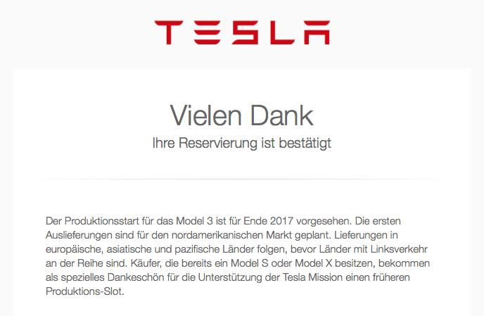 Bestätigung Tesla_Model3_Reservierung