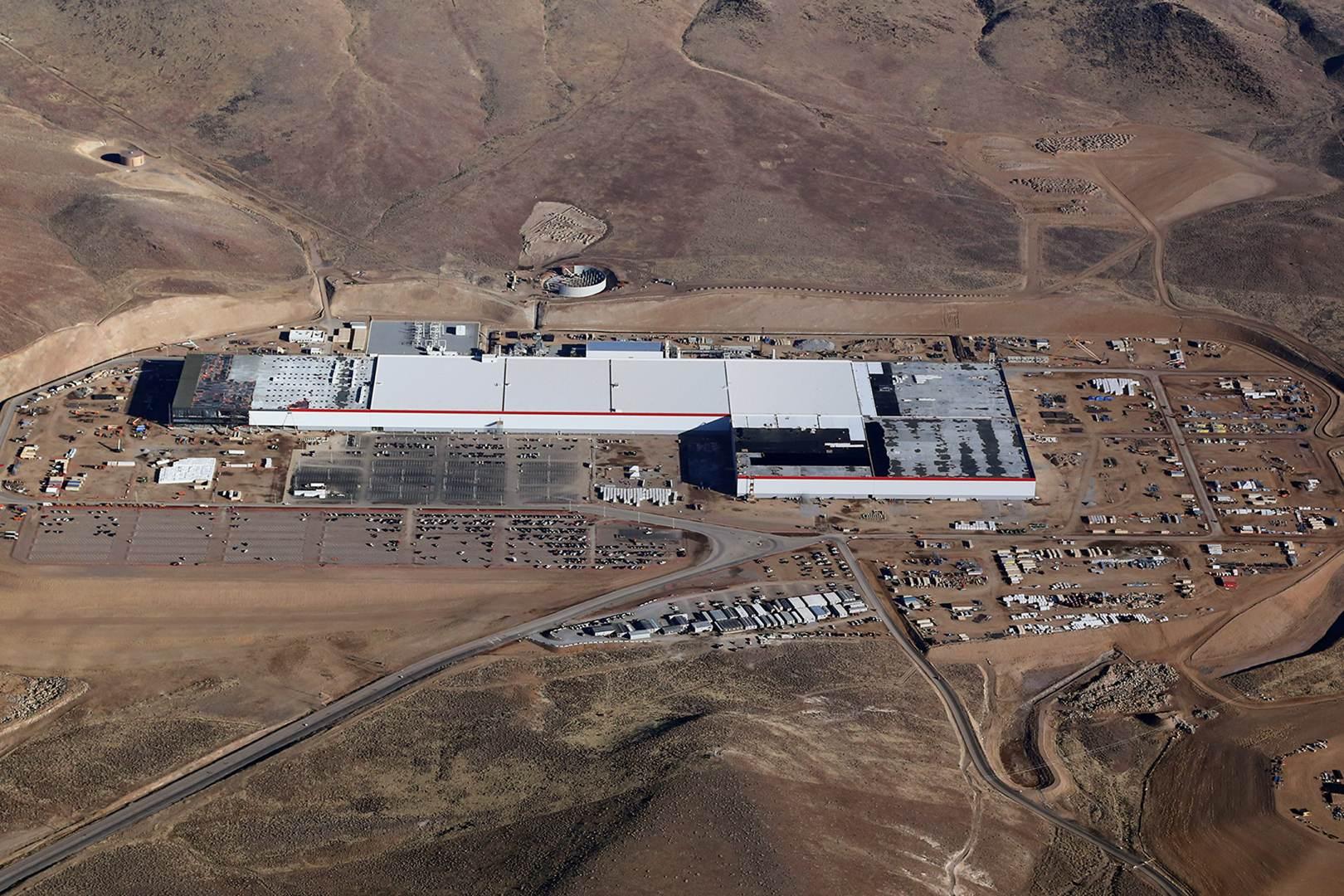 Tesla Pressefoto - Gigafactory Luftbild Januar 2018