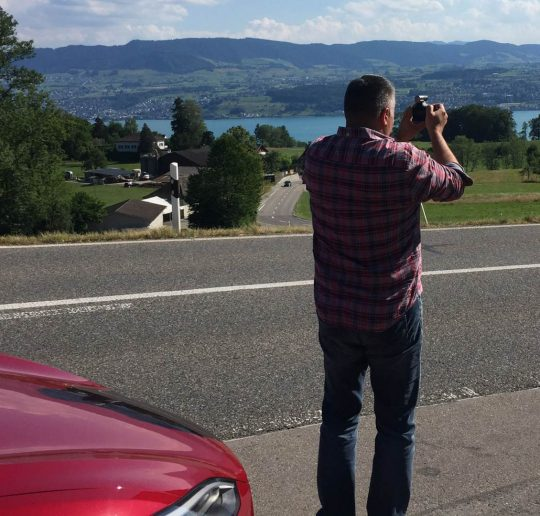 Tesla-Roadtrip an den Zürichsee