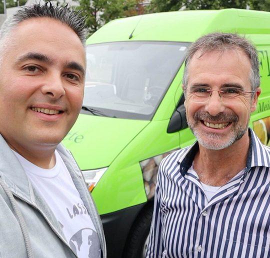 Flotte Karotte Bio-Lieferdienst Elektroauto