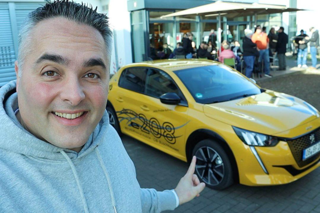 Probefahrt Peugeot e208 Elektroauto