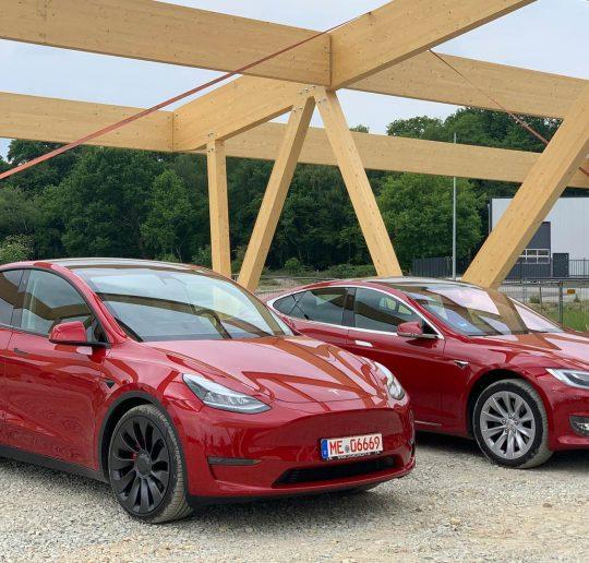 Tesla Model Y Probefahrt Test Fahrbericht Vergleich Tesla Model S