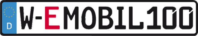 W-EMOBIL100_Kennzeichen