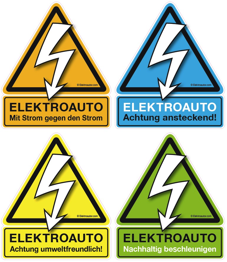 Elektroautor Sticker Motive