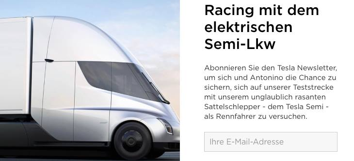 TeslaSemiRennstreckeNewsletter