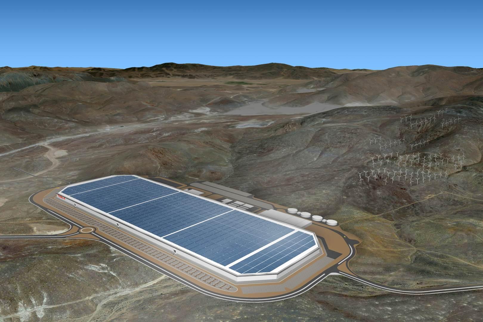 Tesla Pressefoto - Gigafactory finaler Plan