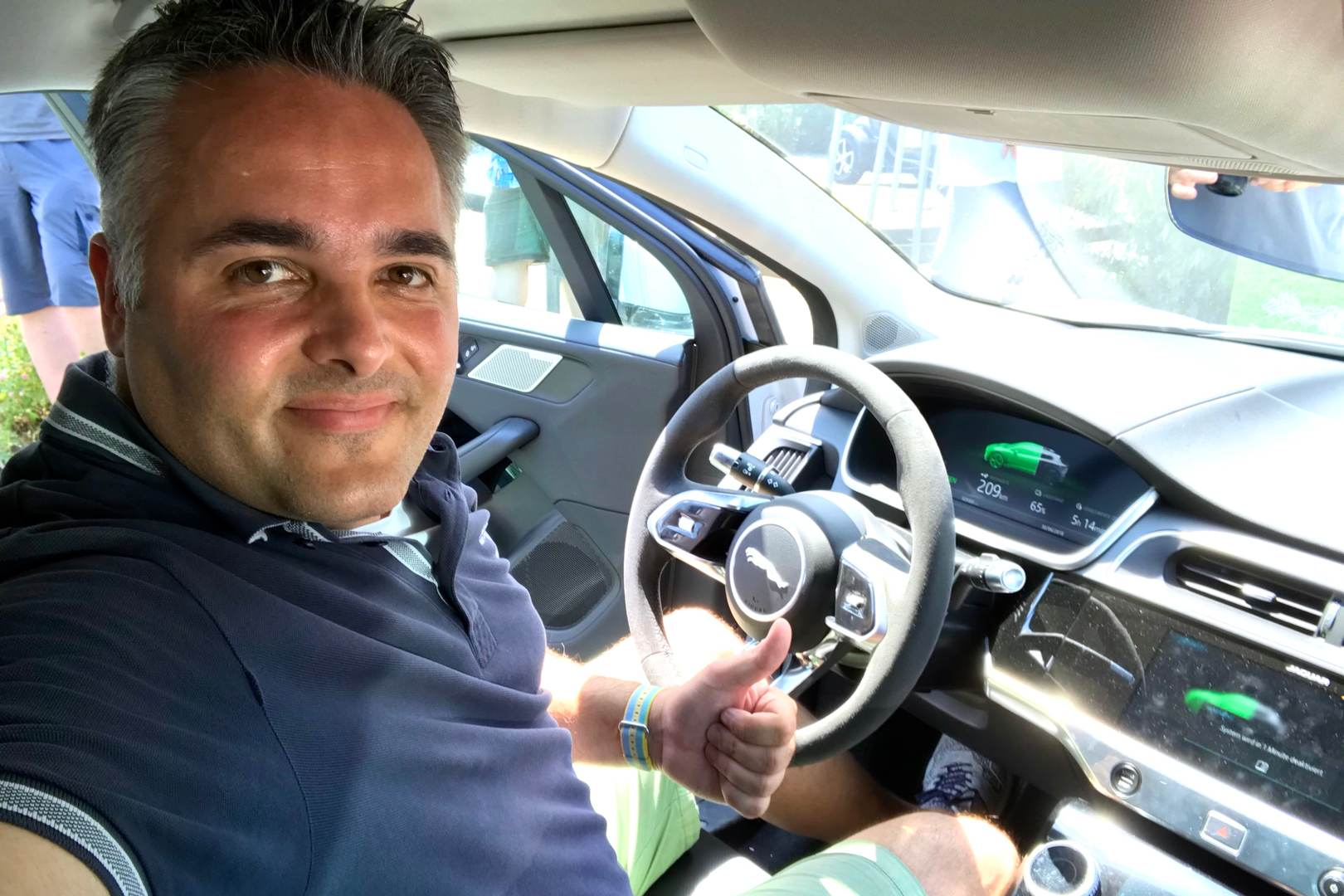 Nino Jaguar iPace Probefahrt