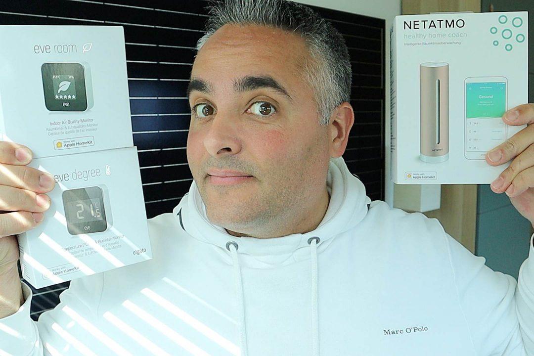 Eve Room Degree Netatmo Healthy Home Coach Smarthome Homekit Vergleich