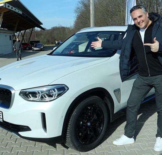 Elektroauto BMW iX3 Probefahrt SUV Vergleich Tesla Model Y Kurvenräuber