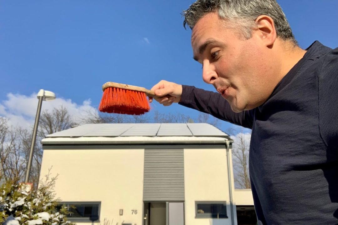 Photovoltaik Schnee Tesla Powerwall Winter Ertrag