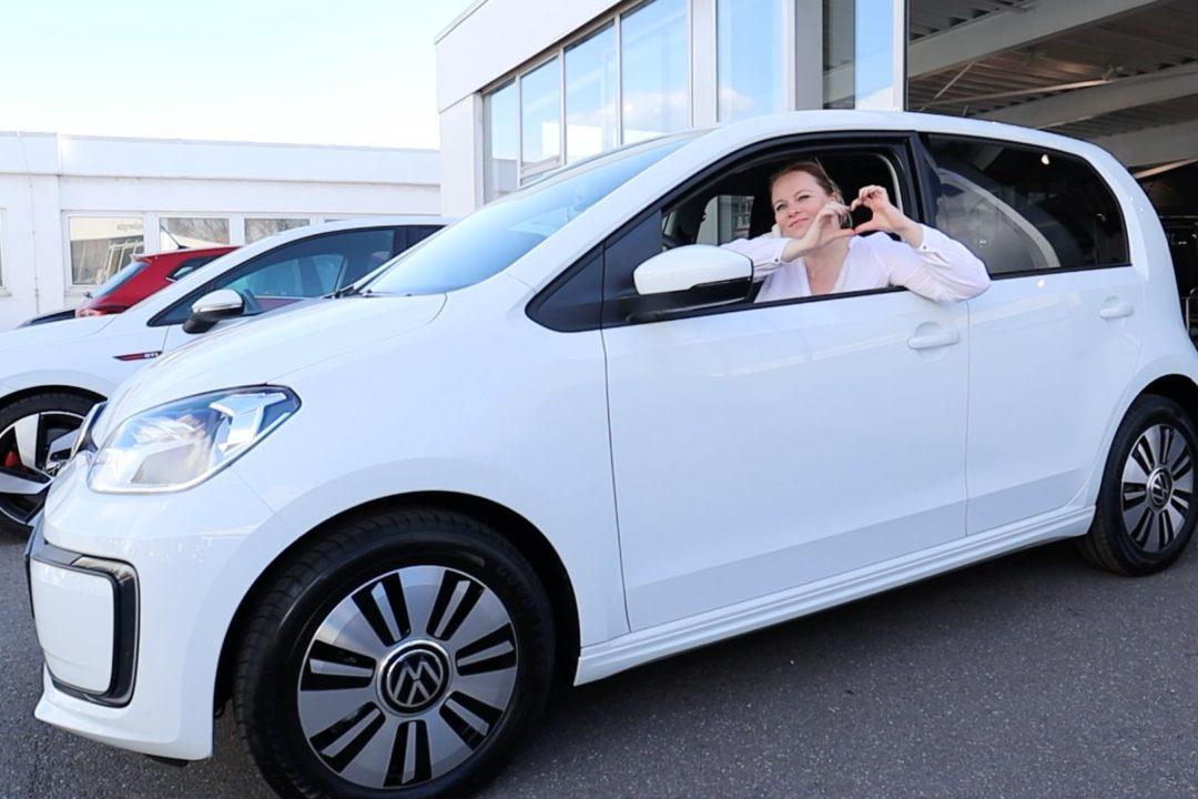 Elektroauto VW eup e-up! Abholung Volkswagen Zentrum Duisburg Tiemeyer